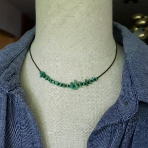 Delicate Native Turquoise Vintage Choker.